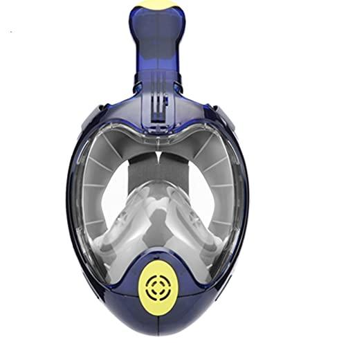 ZBYD Máscara de Buceo Mascarilla bajo el Agua Antie Niebla Equipo Cara Completa Snorkeling Gafas de natación para Profesionales Gopro Niños Mujeres Hombre 419 (Color : Blue, Size : Small/Medium)