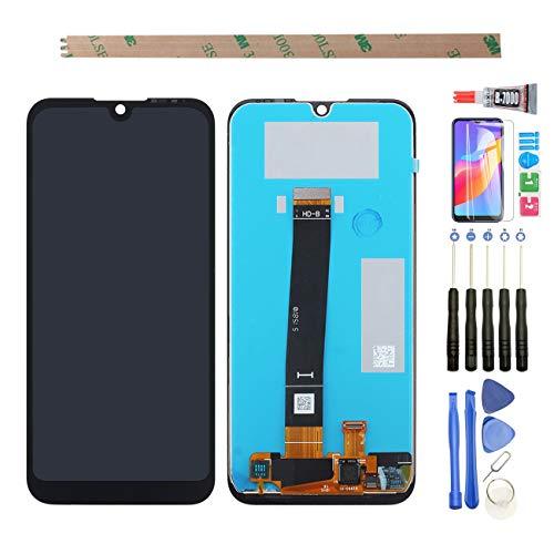 YHX-OU 5.71 – Pantalla LCD de repuesto para Huawei Y5 2019 AMN-LX9 AMN-LX1 AMN-LX2 AMN-LX3 / Honor 8S 2019 KSE-LX9 con herramienta gratuita (negro) + 1 protector de pantalla