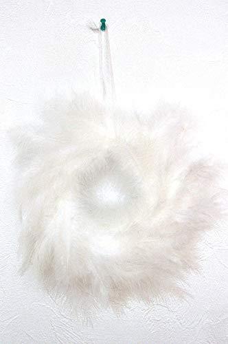 Penna corona 28 cm. Porta finestra decorazioni fai da te tempo altezza corona bianco SD007
