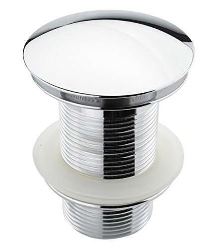 ATCO® PU21 Pop-Up Ventil Ablauf Ablaufgarnitur Excenter Exzenter Abfluss Klick-Ventil Waschtisch Waschbecken Stöpsel ohne Überlauf chrom