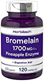 Bromelain 1700 mg   120 Capsules   Supports Digestive Health   Pineapple Enzyme Supplement   Non-GMO, Gluten Free   by Horbaach