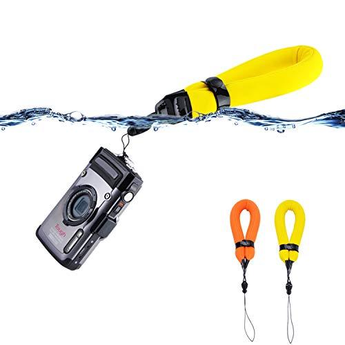 2 Pack Waterproof Camera Float Strap for Fuji Fujifilm XP140 XP130 XP120 XP90 XP80 GoPro Hero8 Hero7 Hero6 Olympus TG-6 TG-5 TG-4 TG-3 TG-870 Nikon W300 W150 W100 AW120 AW110 Canon D30 D20 & More