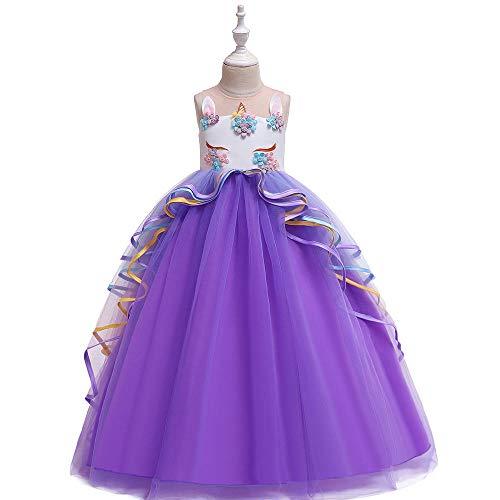 Romon Las niñas Visten Hilo Hilado Princesa Vestido Largo Disfraz Cosplay niños Visten de 3 a 8 años de Edad