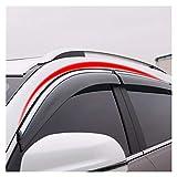 QUXING Derivabrisas para Hyundai Creta IX25 2015-2017 ABS Ventana De Visera Toldos Vent Sun Rain Guard Shield Delfector Cover Derivabrisas Deflectores