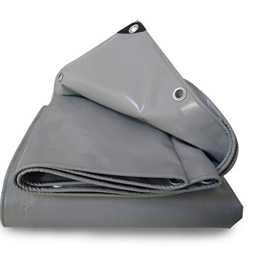 wasserdichte Plane PVC, Sonnenschutz-LKW-Plane-Blatt-Hochleistungs-wasserdichtes (Color : Gray, Size : 2mx4m)
