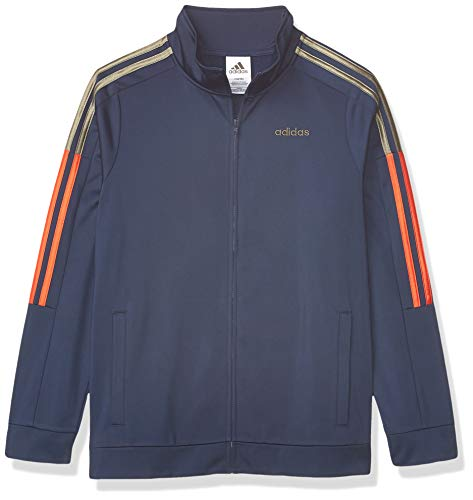 adidas Boys' Big Tricot Active Track Warm-Up Jacket, New Core Navy, Large