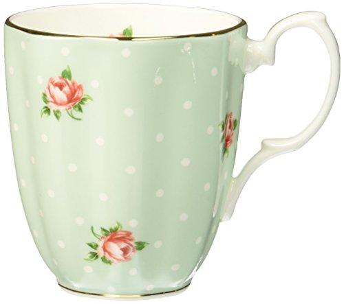 Royal Albert POLROS26729 Tasse mit Punkten und Rosen, Weiß, 237 ml