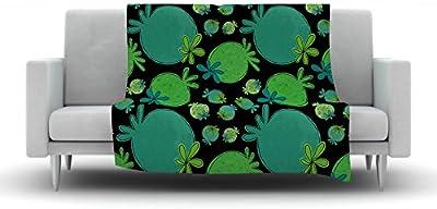 60 X 50 Kess InHouse Heidi Jennings Forest Green Abstract Fleece Throw Blanket 60 by 50-Inch