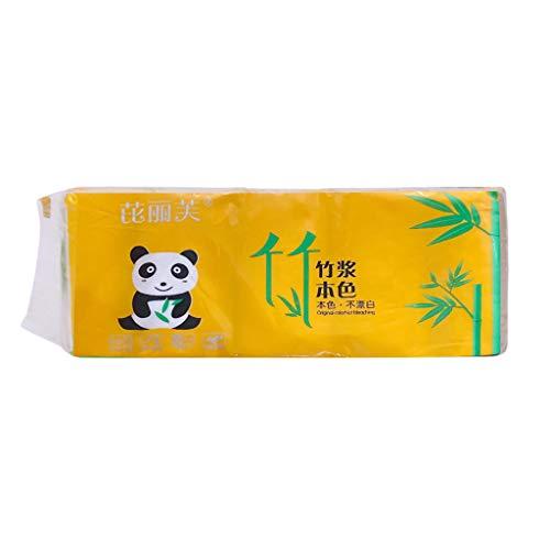 PPangUDing 10 Rollen Toilettenpapier 4-lagig Premium Qualität Klopapier WC Papier Badezimmer Küche Toilette Seidenpapier Abbaubares Rollenpapier Super Soft Toiletten Papier Papierhandtücher