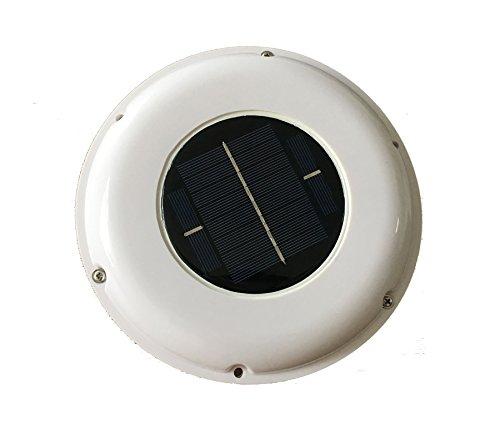 Solar Vent Automatic Ventilator Fan for Boat Motorhome Green House Kitchen (white)