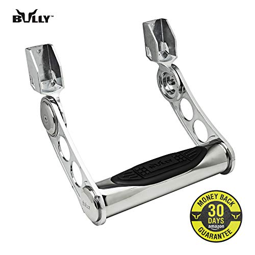 Bully AS-500S Chrome Series Universal Truck Aluminum Side Hoop Step Single Piece Includes Mounting Brackets - Fits Various Trucks from Chevy (Chevrolet), Ford, Toyota, GMC, Dodge RAM and Jeep