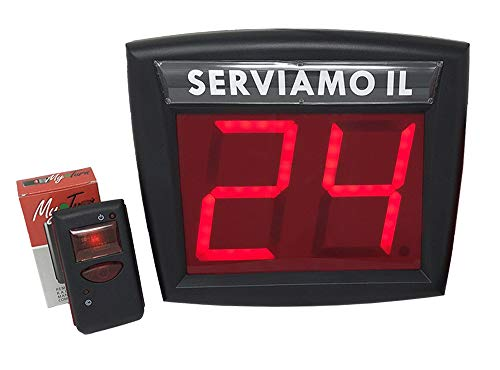 Sistema gestión de colas Kit completo Pantalla dos dígitos y Radioco