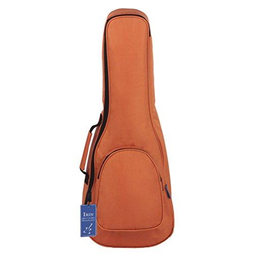 ULTNICE Bolsa acolchada para ukelele de 26 pulgadas, duradera, impermeable, con almacenamiento grande (naranja)