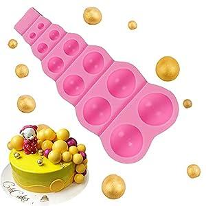 Miloe 12 agujeros semicírculo 3D grano perla silicona molde chocolate fondant pastel decoración azúcar pastel decoración herramientas pastelería