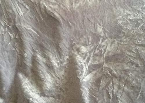 Tissu en velours froissé (Valour) pour vêtements - Blanc