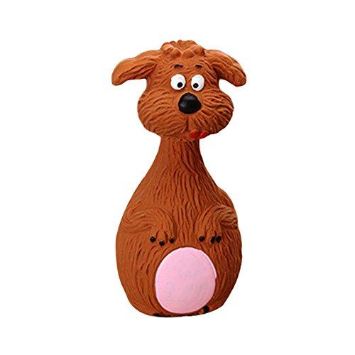Mascota cachorro perro forma animal látex masticar sonido chirriante juguetes blanco