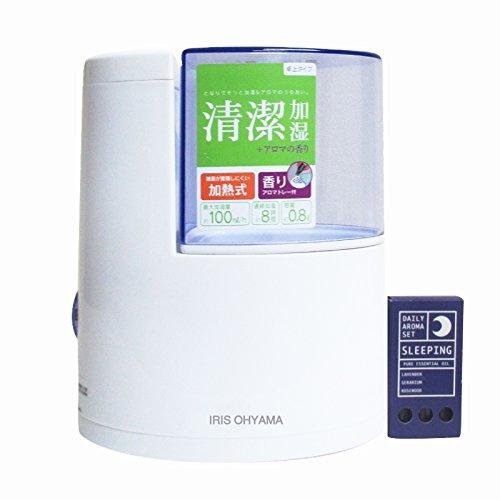 アイリスオーヤマ加湿器加熱式アロマ対応グリーンSHM-100U