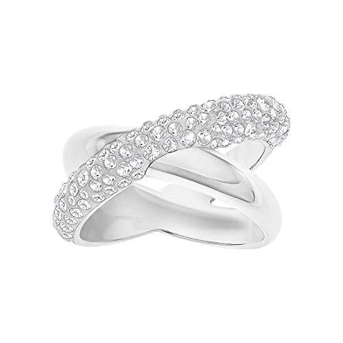 Swarovski Damen-Ring CRYSTALDUST Metall Swarovski Kristalle silber, 52 (16.6)