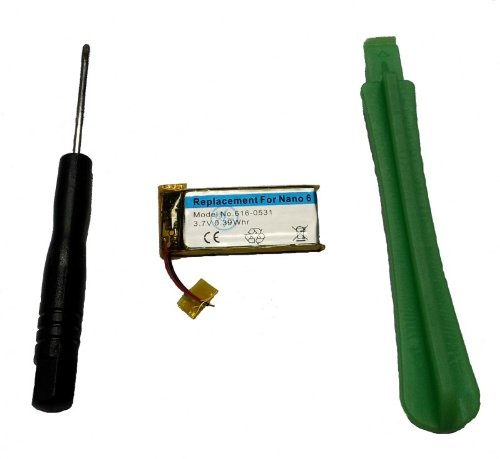 Sintech Batería con la Herramienta Compatible con iPod Nano 6G