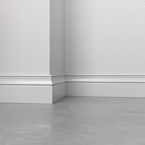 Rodapié Ducale lacado blanco clásico, blanco mm 100 x 12