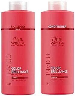 Wella Brilliance Shampoo, Conditioner for Coarse Hair Liter Duo
