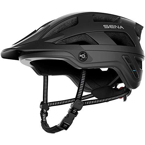Sena M1-MB00L, Evo-Smart Helmet da Mountain Bike (M1, Nero Opaco, L) Adult