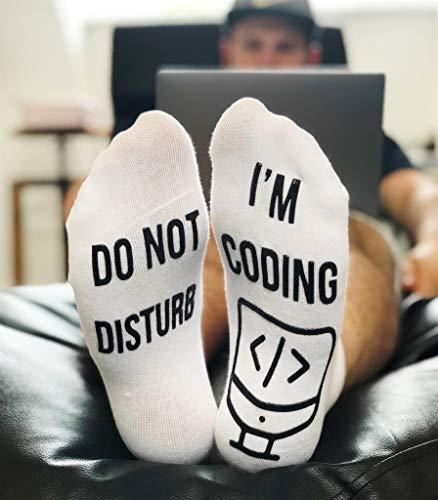 Do Not Disturb I'm Coding Socks