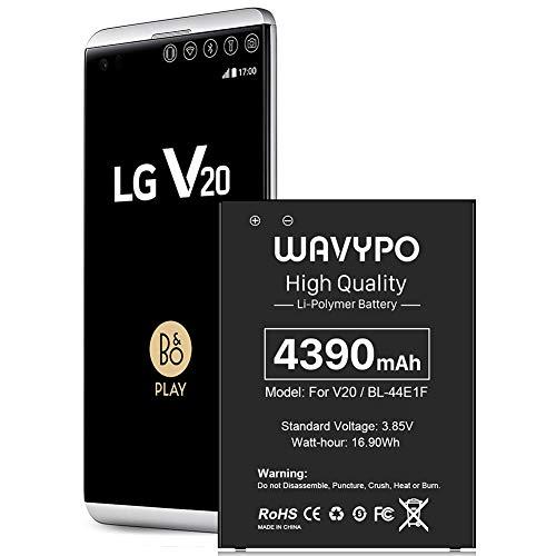 Battery for LG V20 Battery, [4390mAh] Upgraded BL-44E1F Replacement Battery for LG V20 BL-44E1F, V20 BL-44E1F / LG V20 Battery for LG H910 H918 V995 LS997 | LG V20 Spare Battery