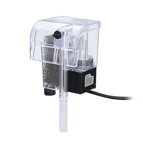 OFKPO Aquarium Hang on filtre, Réservoir d'eau de Circulation de Pompe à Eau de Cascade de Filtre de Puissance d'aquarium