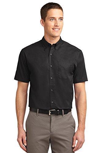 Port Authority Men's Short Sleeve Easy XL Black/Light Stone