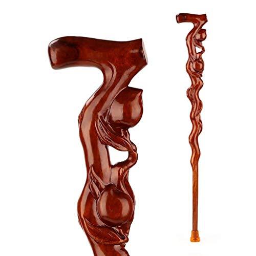 CANDYANA Houten Wandelen Sticks Voor Mannen mahonie houten palen Oude man wandelstok Houten stok Carving stok Heren Hout Rietje