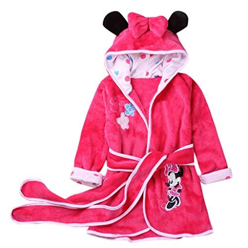 Sexy Unterwäsche MäNner Oyedens Baby-Mädchen-Kind-Flanell-Tier-mit Kapuze Bademäntel-Lange HüLsen-Pyjamas Kinder Lange ärmel Cartoon Disney Serie Flanell Bademantel Pyjamas