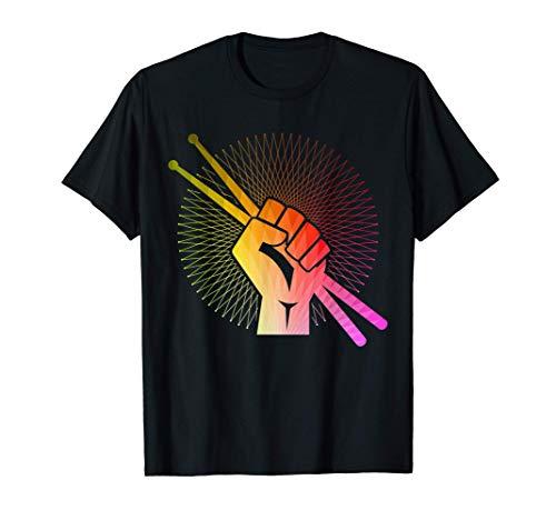 Baterista Drummer Batería Tambores Vintage Regalo Camiseta