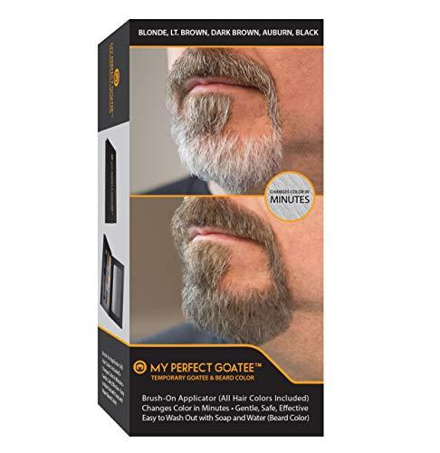Tinta temporanea per barba My Perfect Goatee (Inclusi tutti i colori) pennello   cambiare colore in pochi minuti   delicata, sicura, efficace   facile da rimuovere con acqua e sapone (tinta per barba)