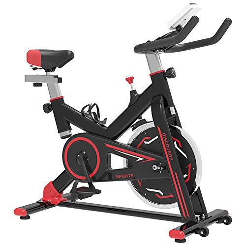 WSJIANP Spinning Bike,With LCD Display Fitness Bicycle,SILENT Indoor Pedal Exerciser,Weight Loss Fitness Equipment,Cardio Bike Black 104x54x117cm(41x21x46inch)