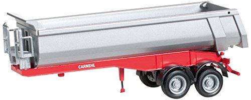 herpa 076036-002 - Carnehl-Rundmulden-Auflieger 2a Fahrzeug, rot