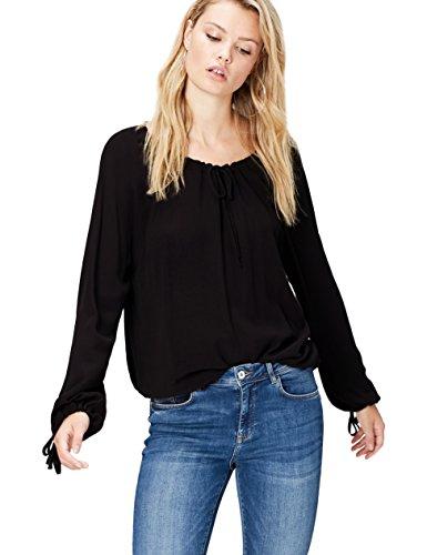 find. Oversized Blusa para Mujer, Negro (Black), 38 (Talla del Fabricante: Small)