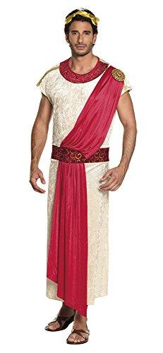 Boland- Imperatore Romano Deluxe Costume Adulto, Rosso/Bianco, S (46/48), 87758