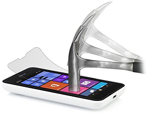 StilGut, Pellicola Protettiva ultraresistente in Vetro temperato per Nokia Lumia 530 (2 Pezzi)