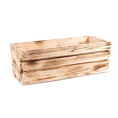 Tintours Caisse en bois pour herbes et fleurs pour le jardin - 42 x 18,5 x 15 cm