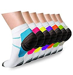 top rated Compressed stockings Plantar fasciitis Female Male 7 pairs, 8-15 mmHg Item No. A1-Mix 7 pairs, S / M. 2021