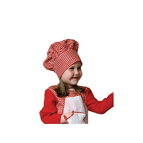 Dress Up America bambini rosso Gingham capocuoco Hat