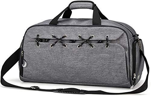 Tophacker YOGA MAT CARRIER Sport Gym Bag Bolsa de deporte Bolsa de equipaje Bagyoga bolsa con bolsillo húmedo y compartimento para zapatos para hombres y mujeres (color gris)