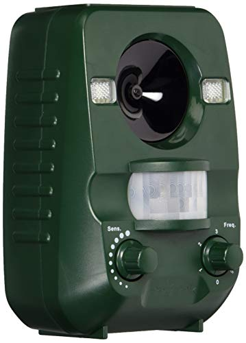 Ultrasonic Animal Cat Repellent, Solar Powered & Battery Operated Waterproof Cat Repeller, Dog Repellent, Raccoon Repellent, Squirrel Repellent - Motion Activated [Upgraded Version]
