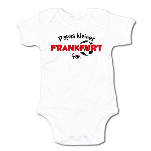 G-graphics Papas Kleiner Frankfurt Fan Baby-Body (250.0240) (0-3 Monate, weiß)
