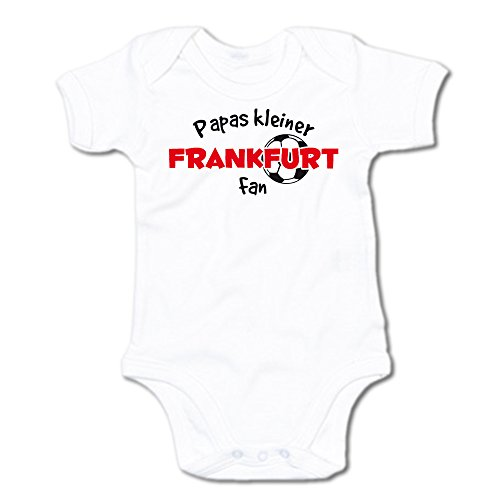 G-graphics Papas Kleiner Frankfurt Fan Baby-Body (250.0240) (0-3 Monate, weiß)
