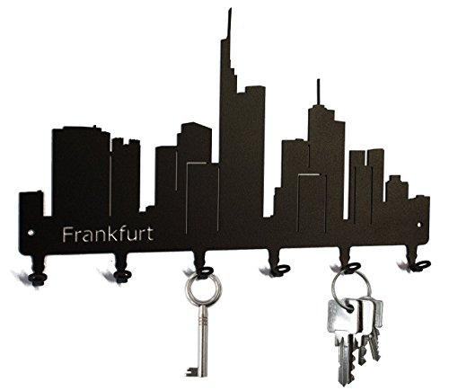 Schlüsselbrett / Hakenleiste * Skyline Frankfurt * - Schlüsselboard Hessen, Schlüsselleiste, Metall - 6 Haken