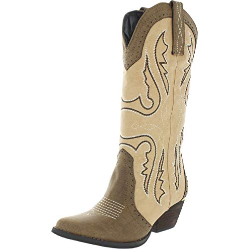 Very Volatile Women's Raspy Western Boot, Brown/Multi, 7.5 M US