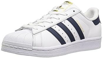 adidas Originals Superstar Foundation J Running Shoe White/Collegiate Navy/Metallic/Gold 6 M US Big Kid