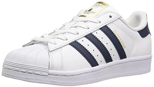 adidas Originals Superstar II Schuh mit Low-Top für Erwachsene, Unisex, Weiß - Bianco Collegiate Navy Oro Metallico - Größe: 39.5 EU
